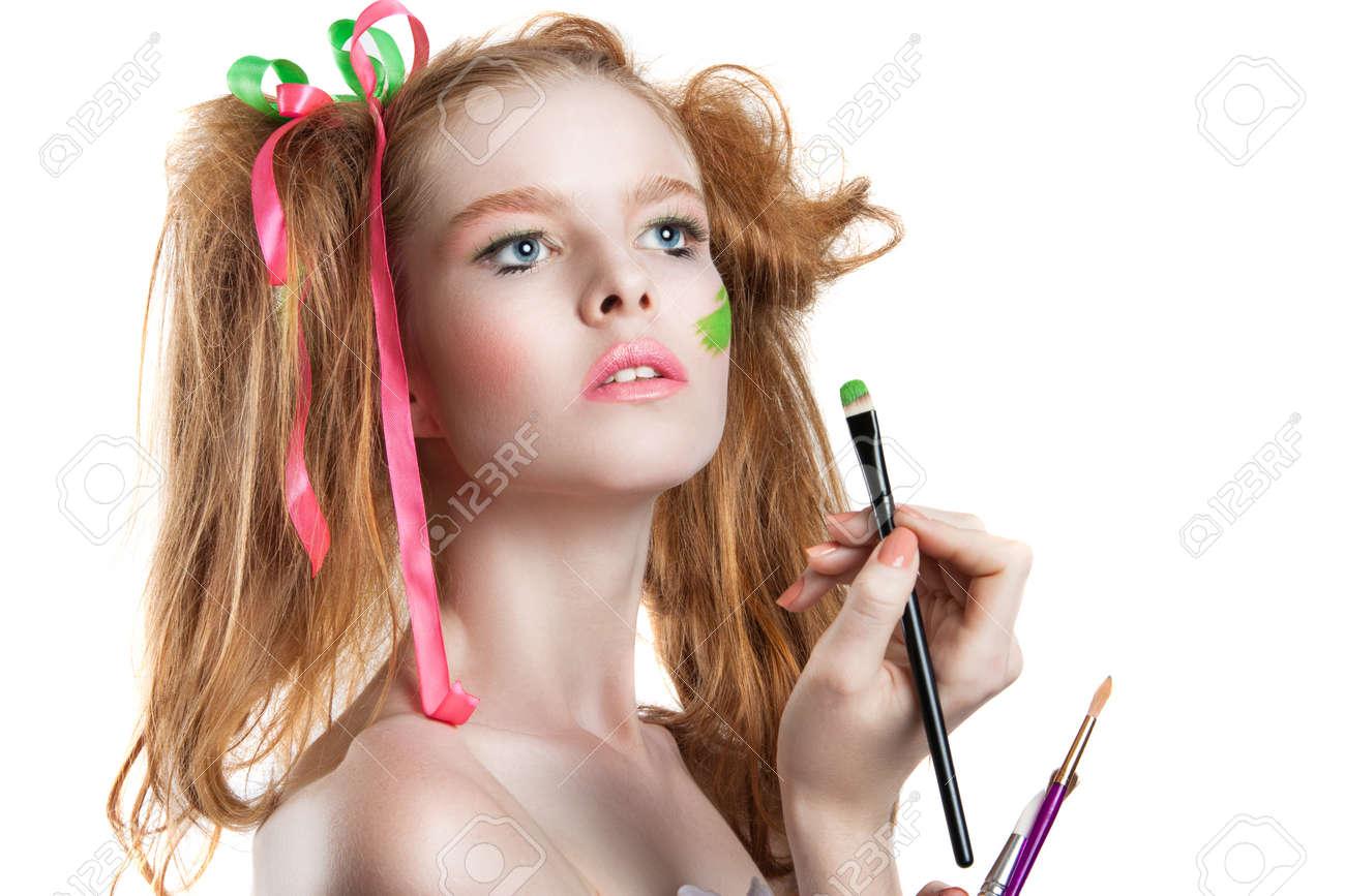 Hochsteckfrisur und make up