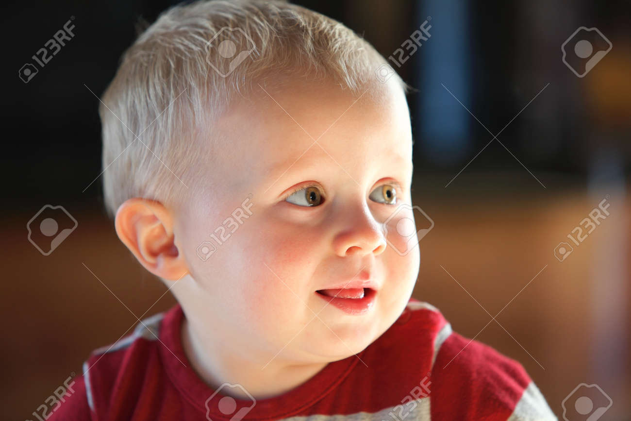 Closeup portrait of cheerful little boy smiling Stock Photo - 17413722