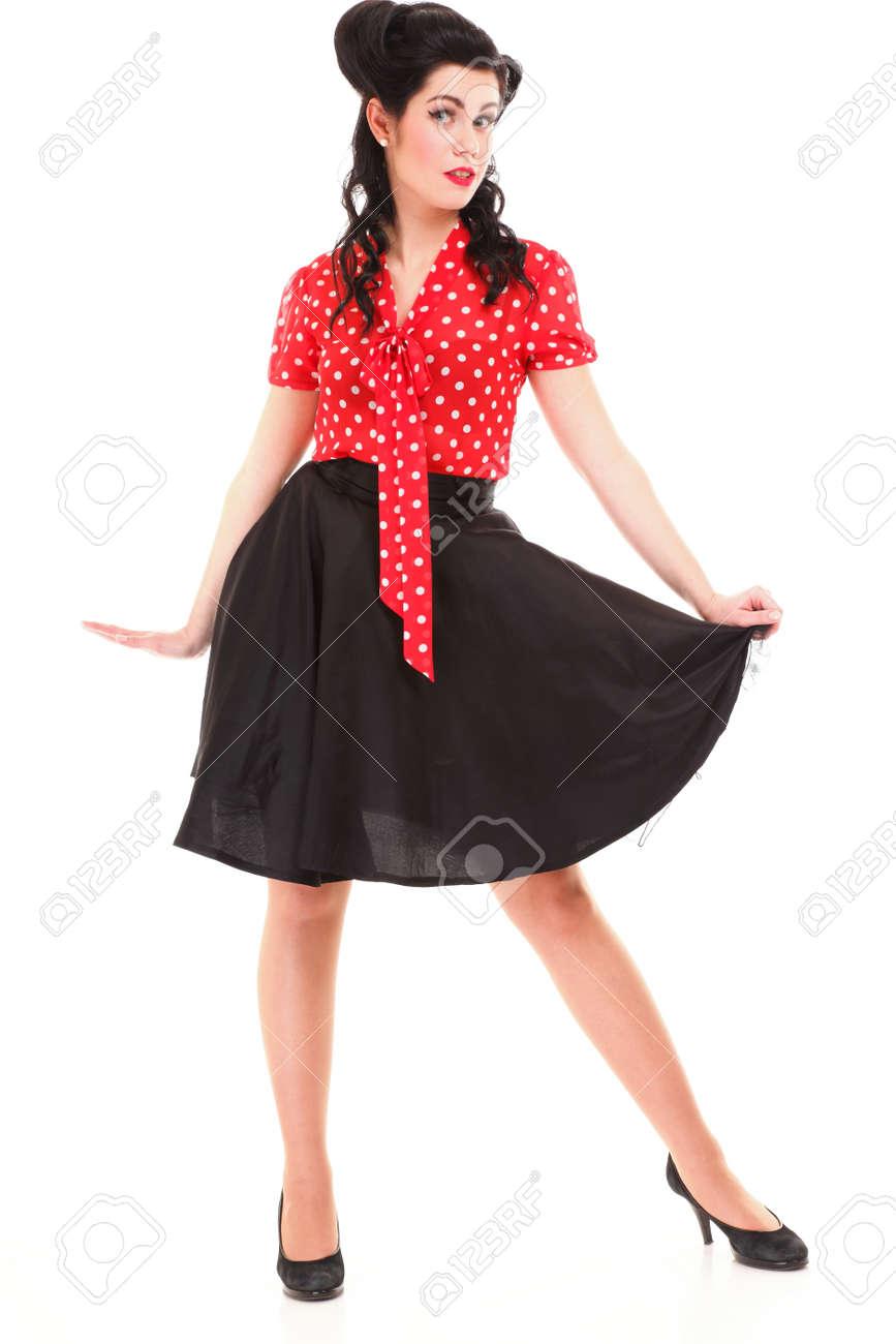Stijl Sexy Patriottisch Amerikaans Meisje Pin Up Retro Vrouw Geã