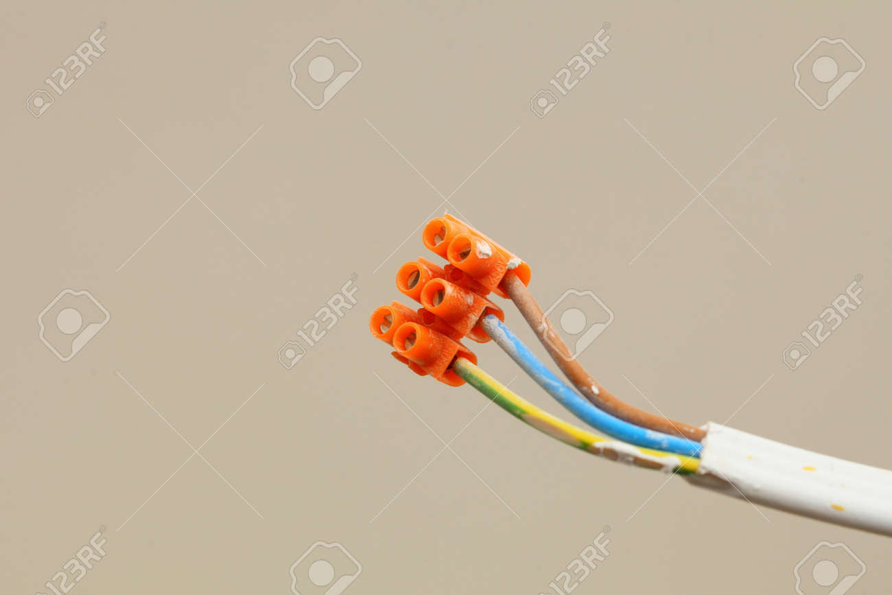 Electrical Installation Electric Socket Wires With Terminal Blocks ...