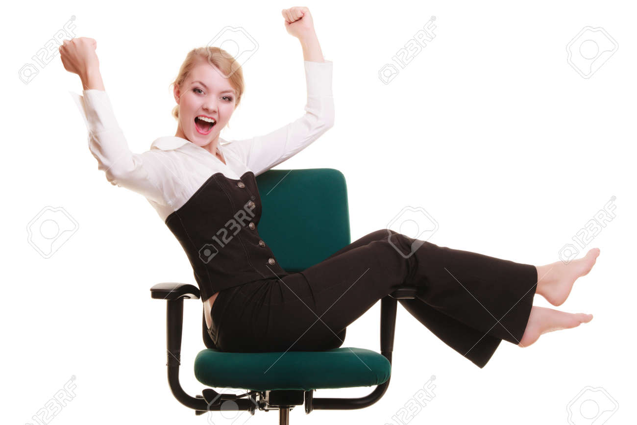 success in business work young businessw happy girl stock photo success in business work young businessw happy girl celebrating promotion in her job isolated on white