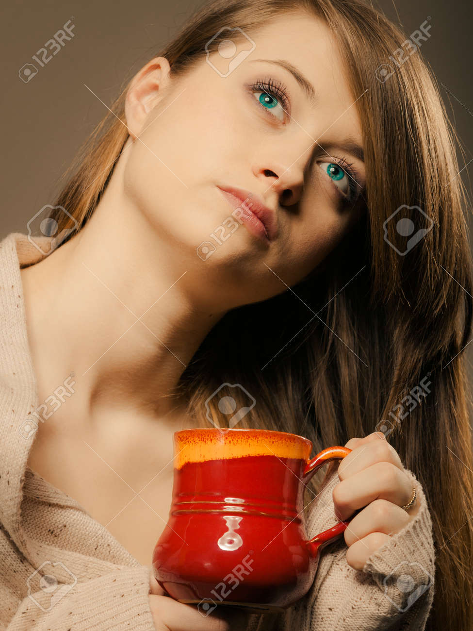 Girl On Cup