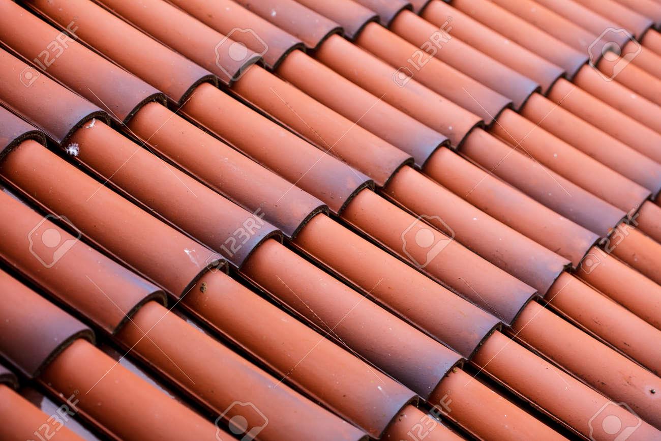 Piastrelle rosse tetto texture sfondo di architettura dettaglio