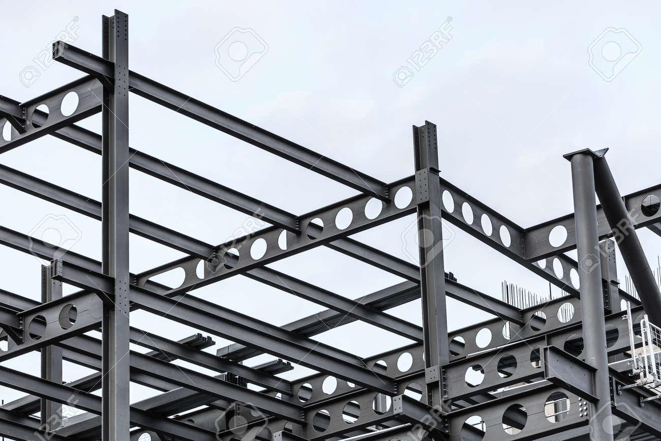 La Construccin Del Sitio Estructura De Acero Vigas De Metal