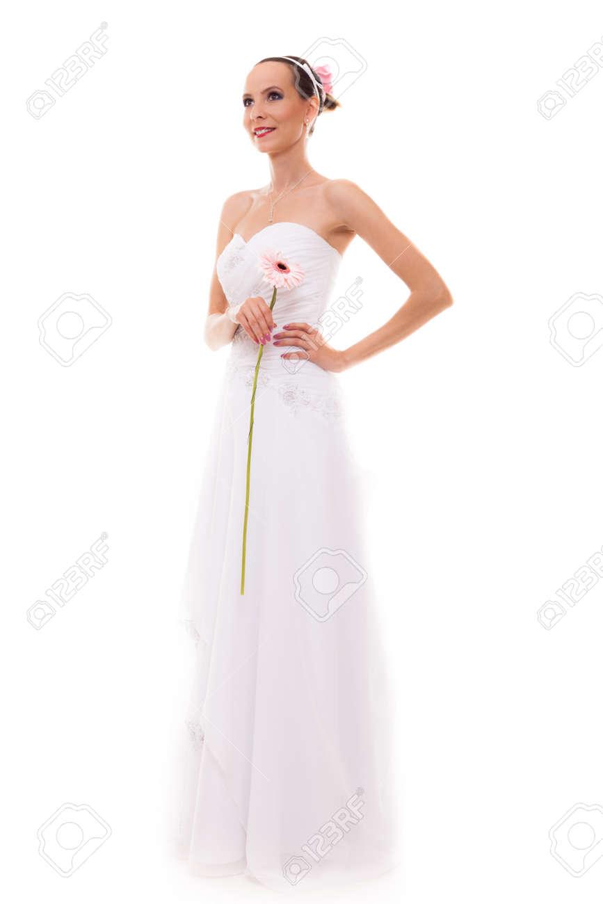 La Mujer Joven Rubia Retrato En Novia Día Atractiva De Boda 7w41516Cq