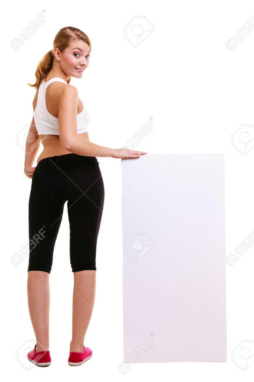 Fitness and health lifestyle advertisement  Young woman girl