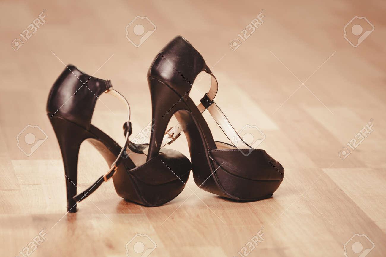 Black Woman High Heels