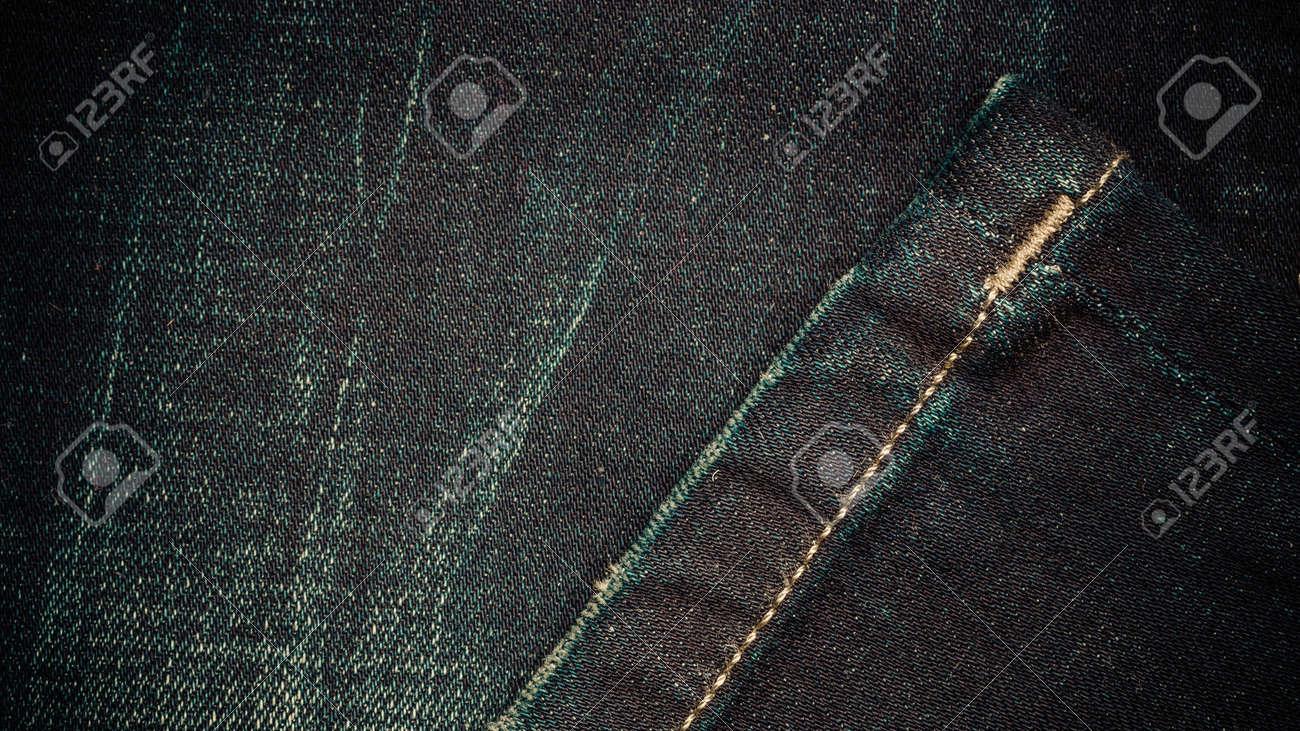 034fd5f27c4 Closeup Detail Of Dark Blue Denim Jeans Trouses