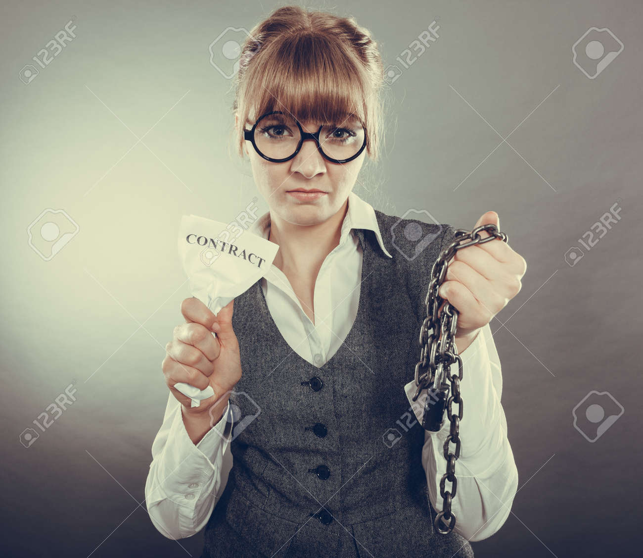 Businesswoman Woman Ending Agreement Deal Young Girl Holding