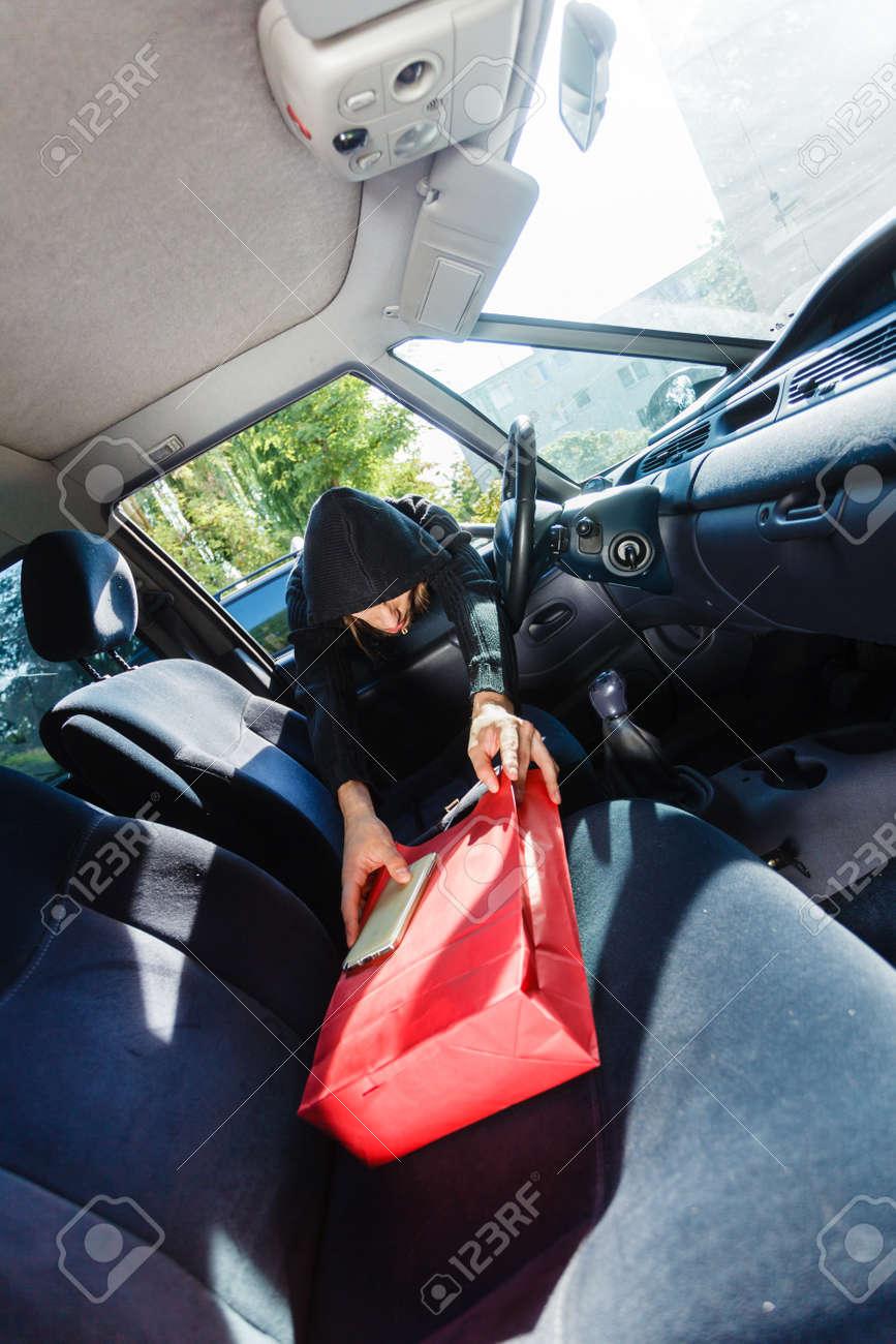 Anti Theft System Car >> Anti Theft System Problem Concept Burglar Thief Man Wearing