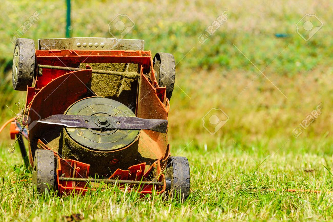 Image result for broken lawn mower