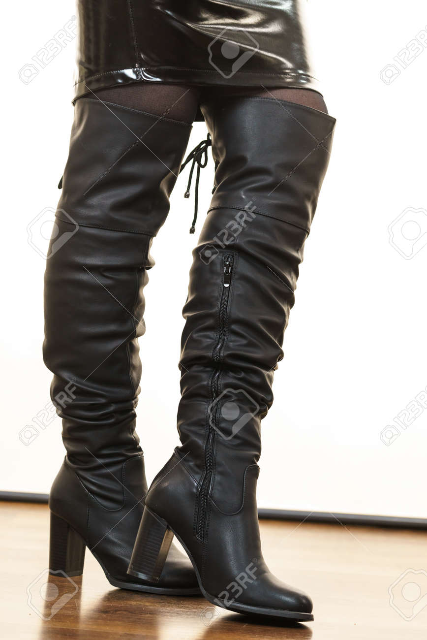 long boots leather