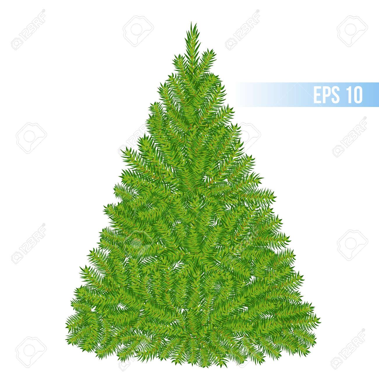 Vector Green Color Christmas Tree Royalty Free Cliparts, Vectors ...