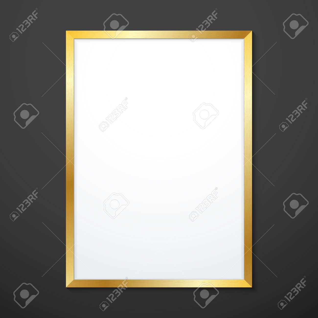 Vector De Diseño Plano Vertical De Oro De Metal Con Textura Simulada ...