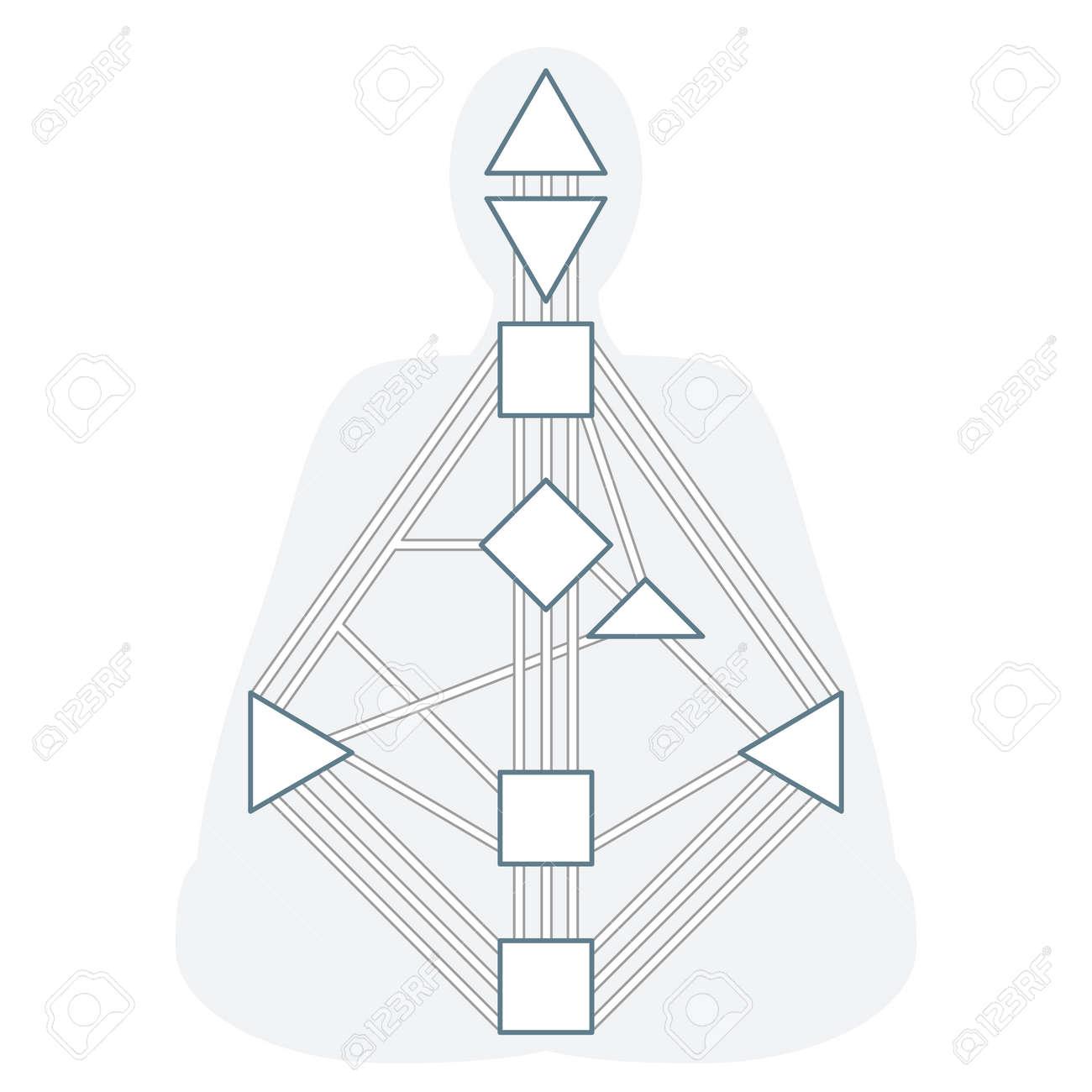 Vector Outline Design Monochrome Human Body Graph Energy