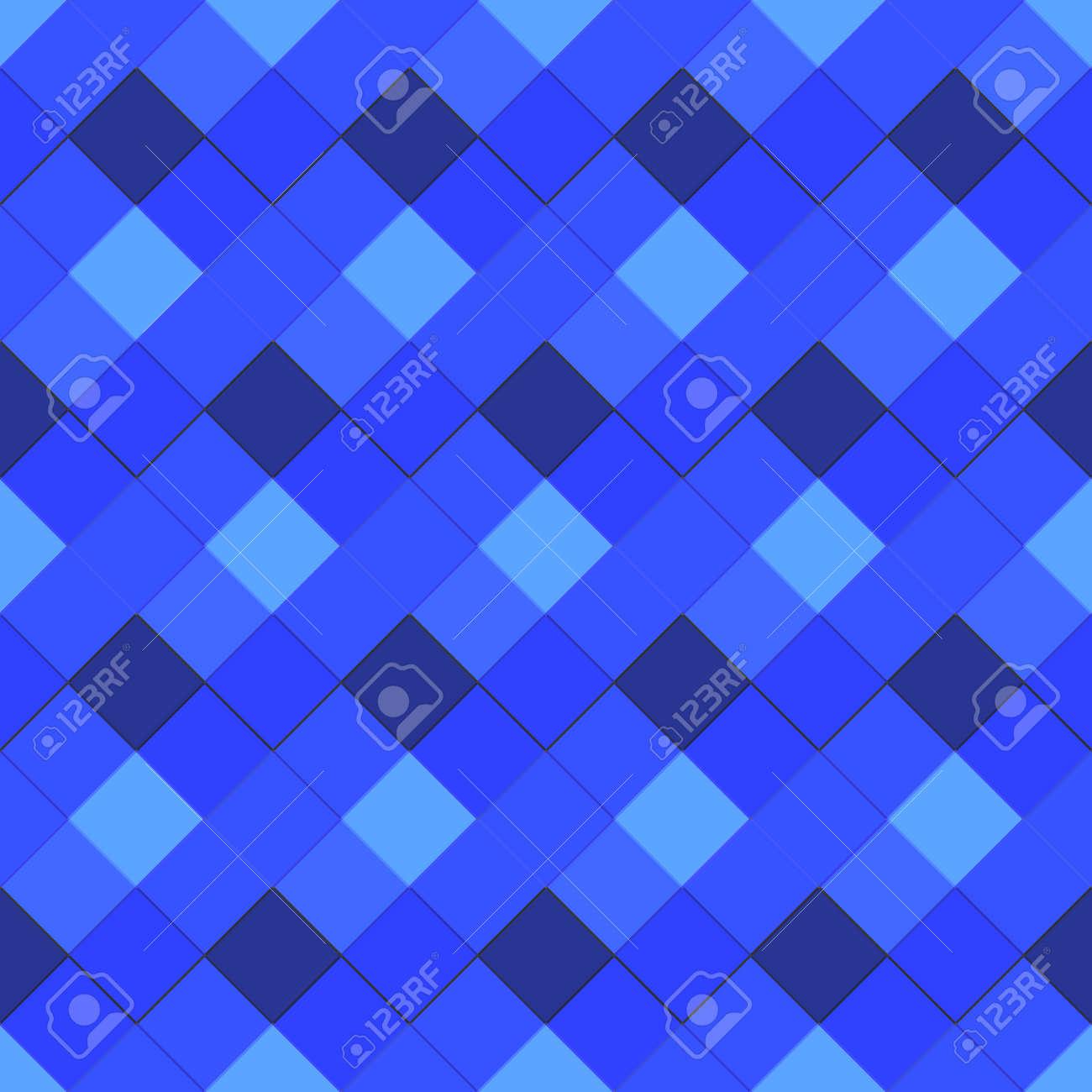 Vector Blue Colors Bulk Ceramic Square Tile Decorative Seamless ...