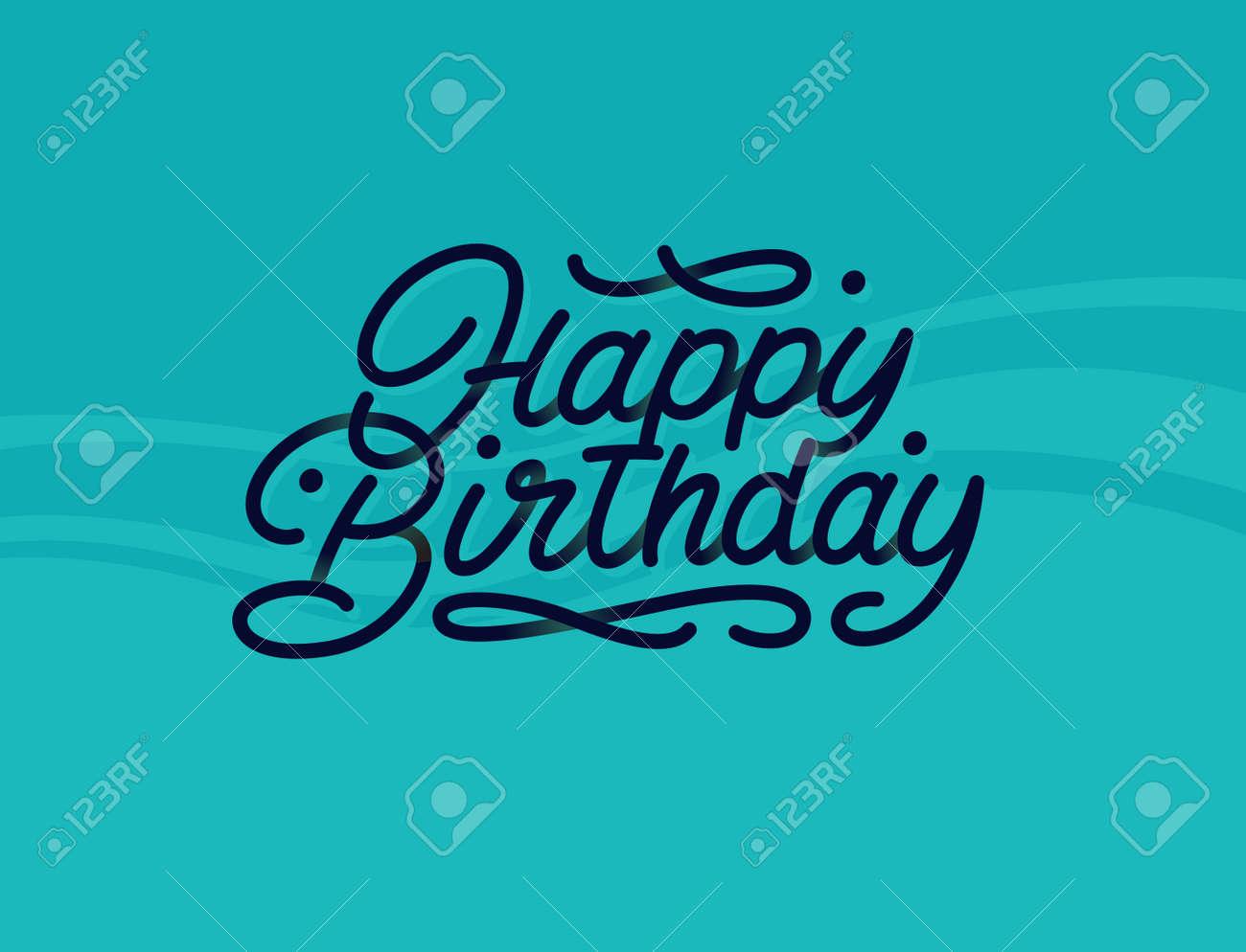 Alles Gute Zum Geburtstag Premium Schriftzug Mit Schönen Schatten