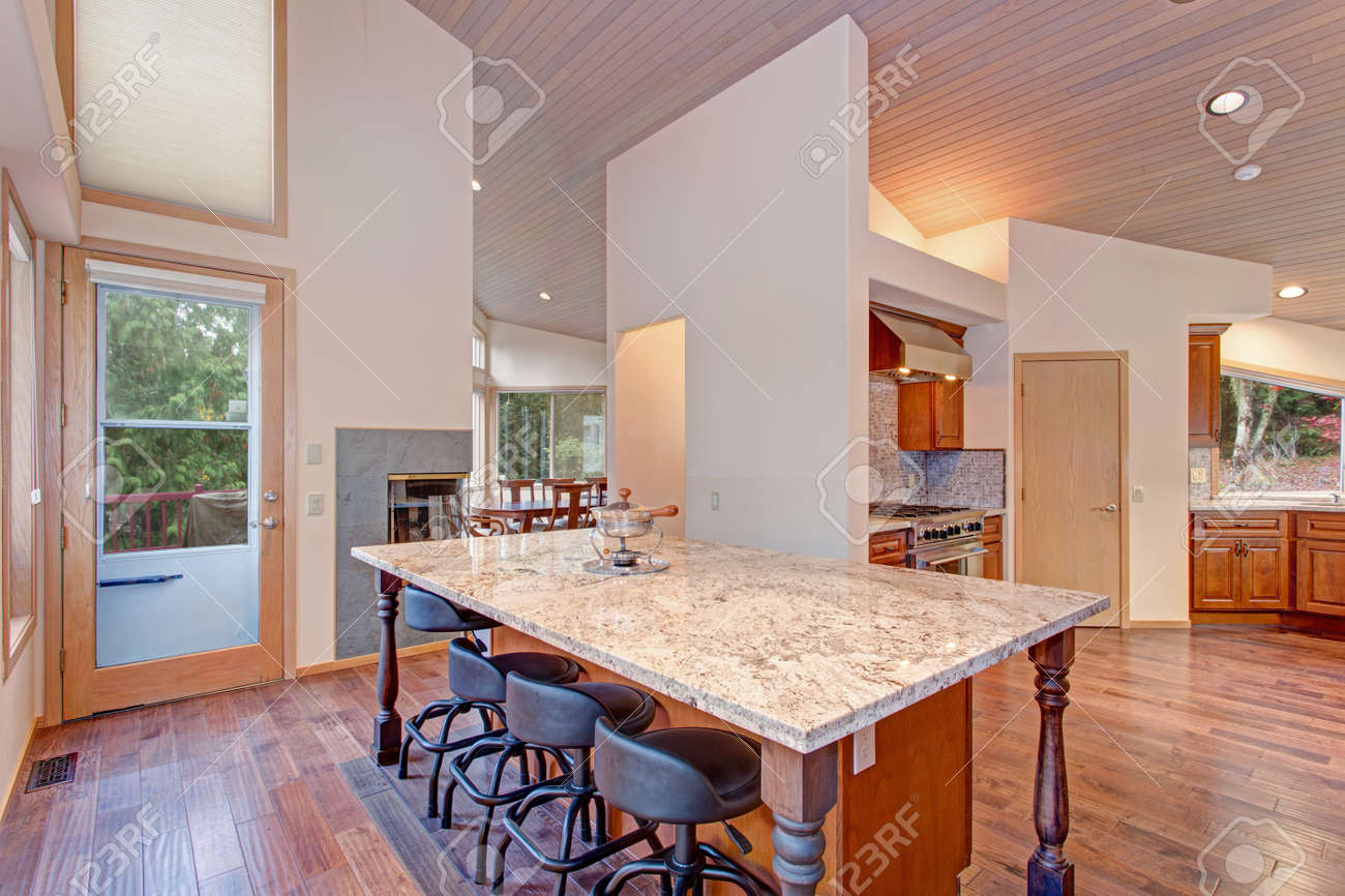 Marvelous Open Floor Plan Kitchen Design Features Breakfast Nook With A Home Interior And Landscaping Ologienasavecom