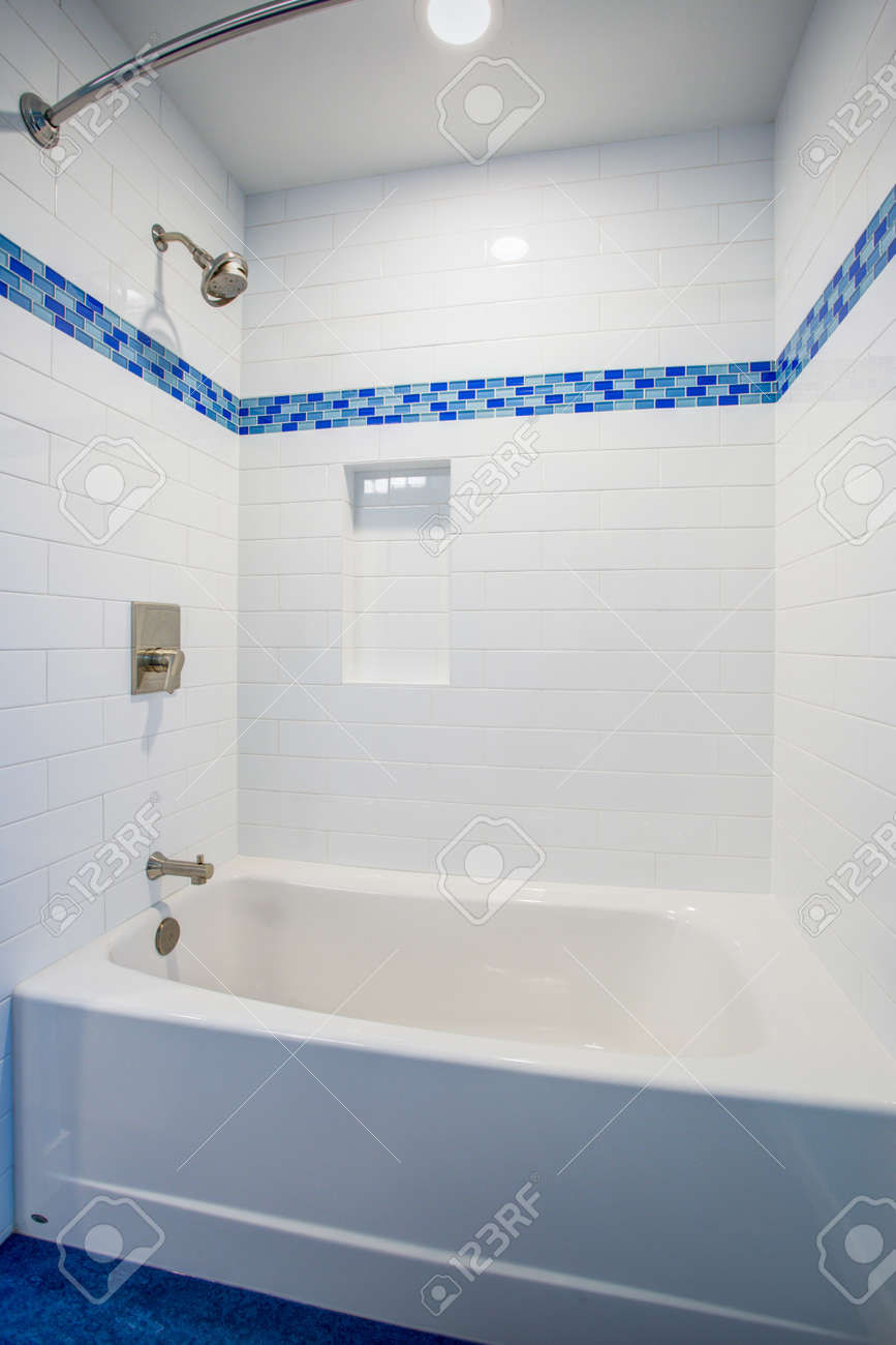 - Fantastic Bathroom With A Drop-in Tub And Shower Combo Framed