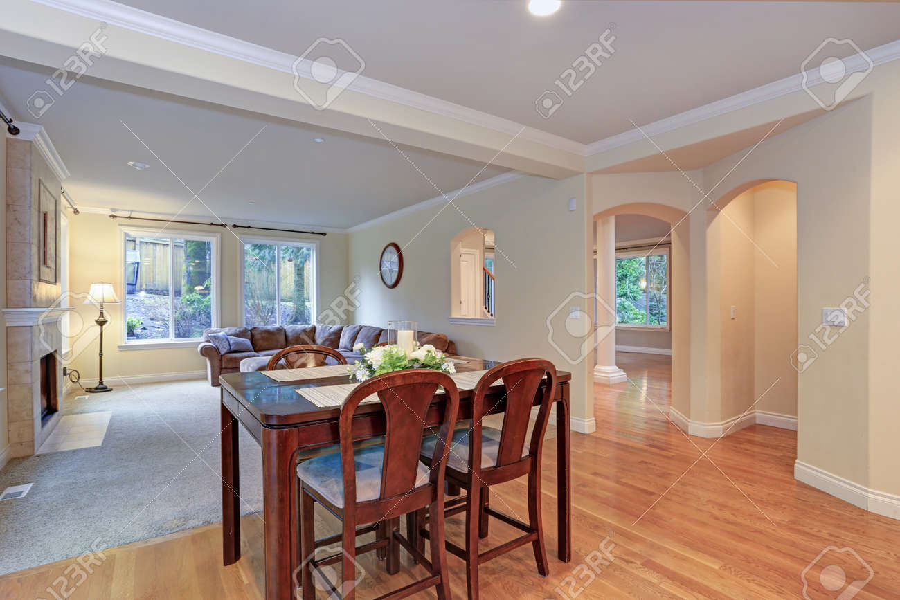Spacious Light Home Interior With Separate Dining Area And Living Stock Photo Picture And Royalty Free Image Image 96644434