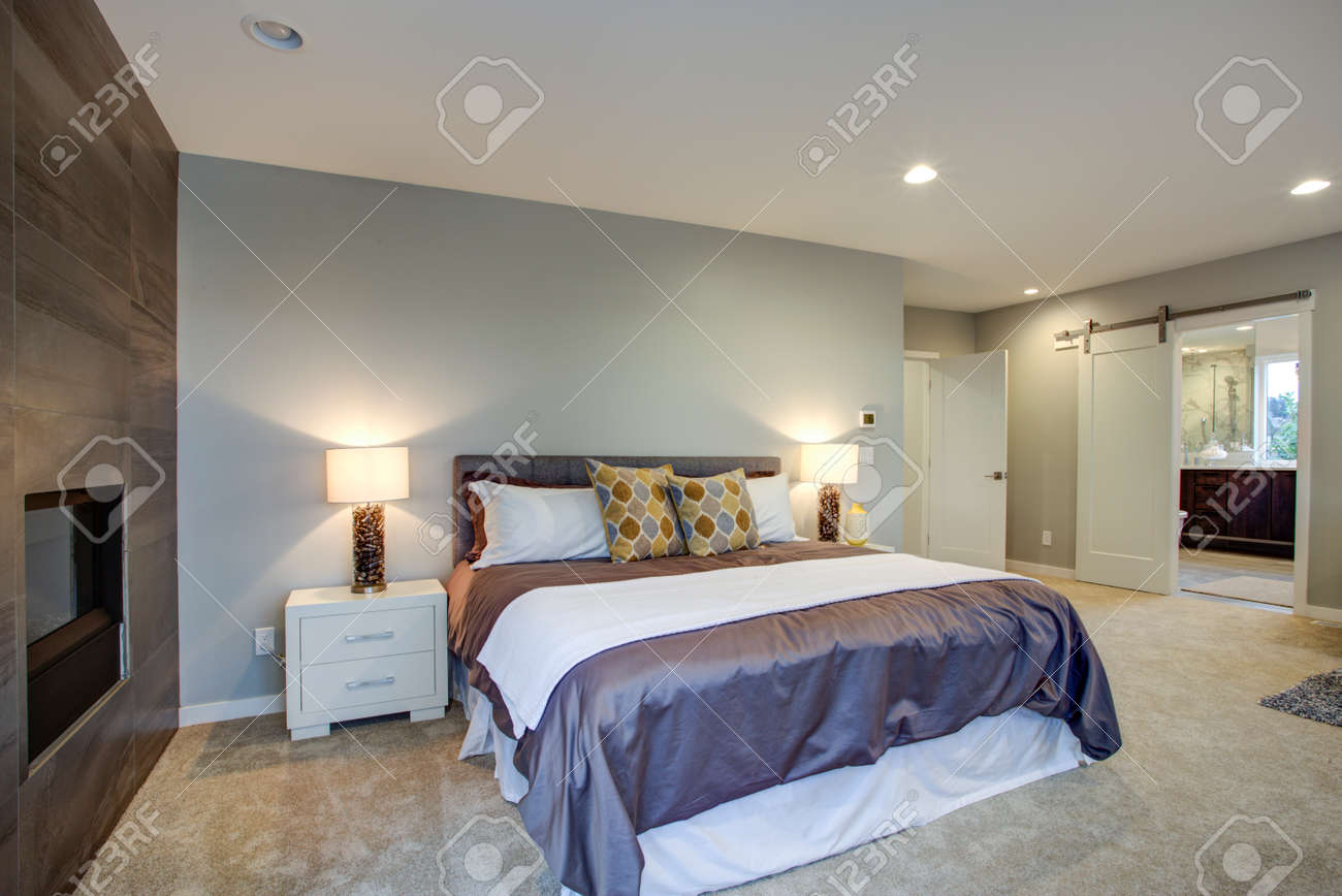 Upstairs stunning master bedroom with king size bed, fireplace,..