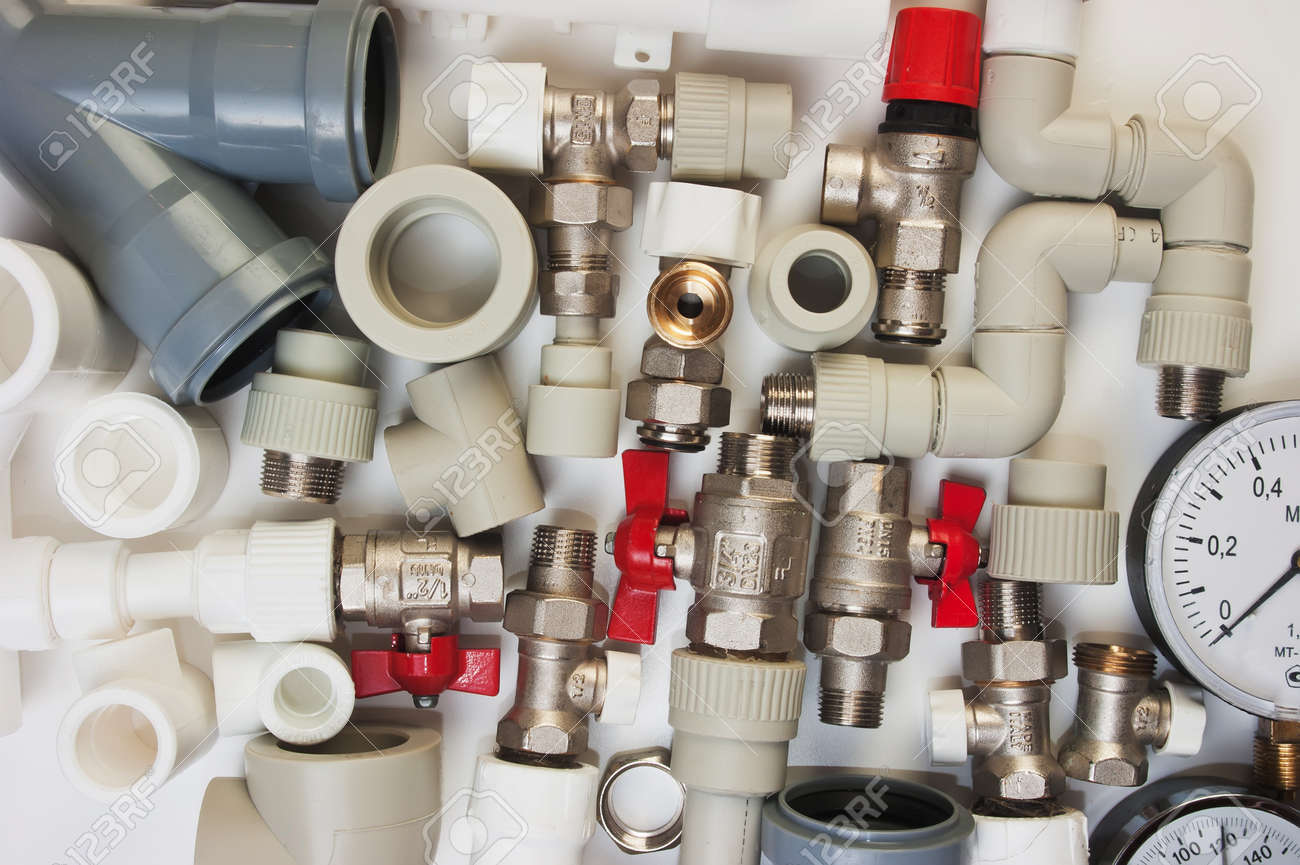 Plumbing fixtures and piping parts Stock Photo - 19656231