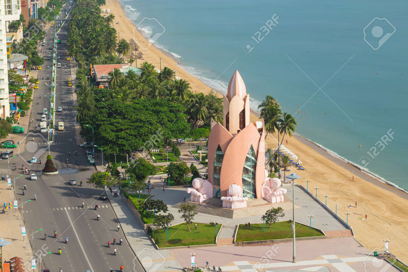 Tram Huong Lotus Flower Tower In Nha Trang Stock Photo Picture