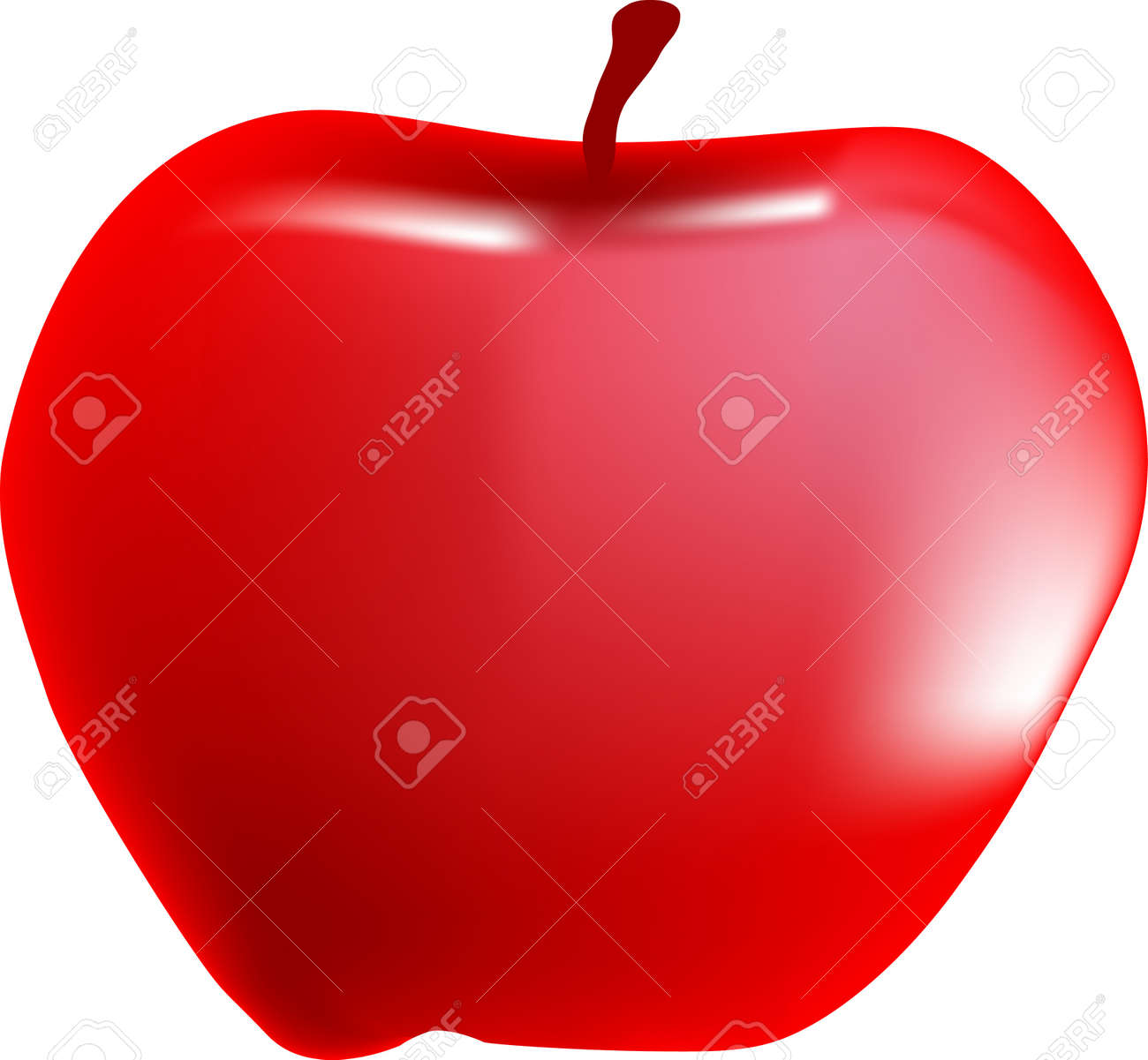A red apple Stock Vector - 15189937