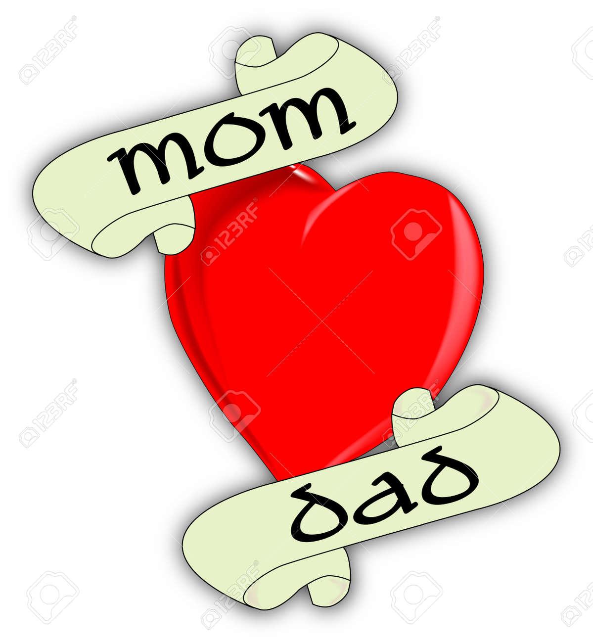Mamma E Papà In Stile Tatuaggio Clipart Royalty Free Vettori E