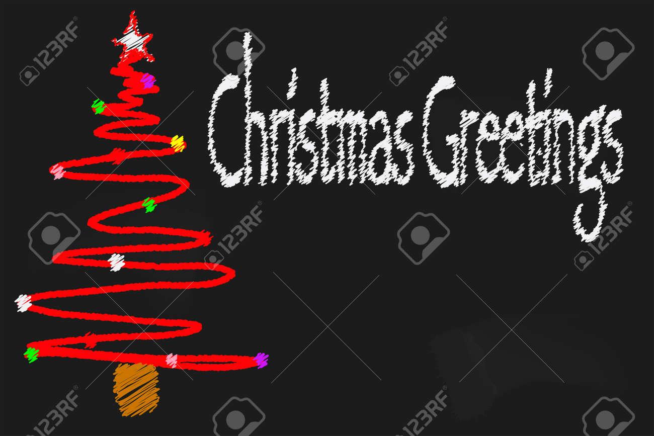 Eine Schule Tafel Mit Einem Weihnachts-Nachricht Und Einem ...