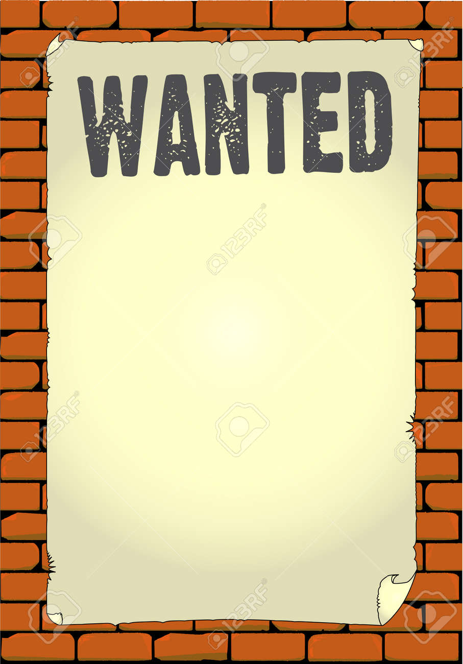 an old wanted poster pasted to a wall royalty free cliparts rh 123rf com help wanted sign clip art free wanted poster clip art images