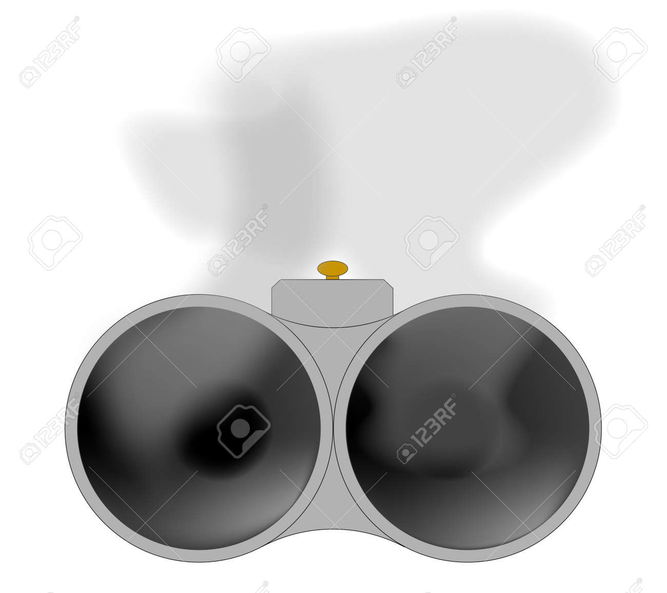 Looking Down The Barrel Of A Shotgun With Smoke Royalty Free Cliparts Vectors And Stock Illustration Image 18486516