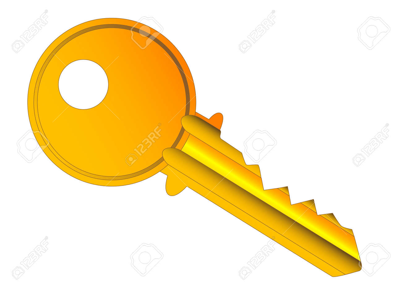 Charmant A Typical Front Door Key. Stock Vector   20006459