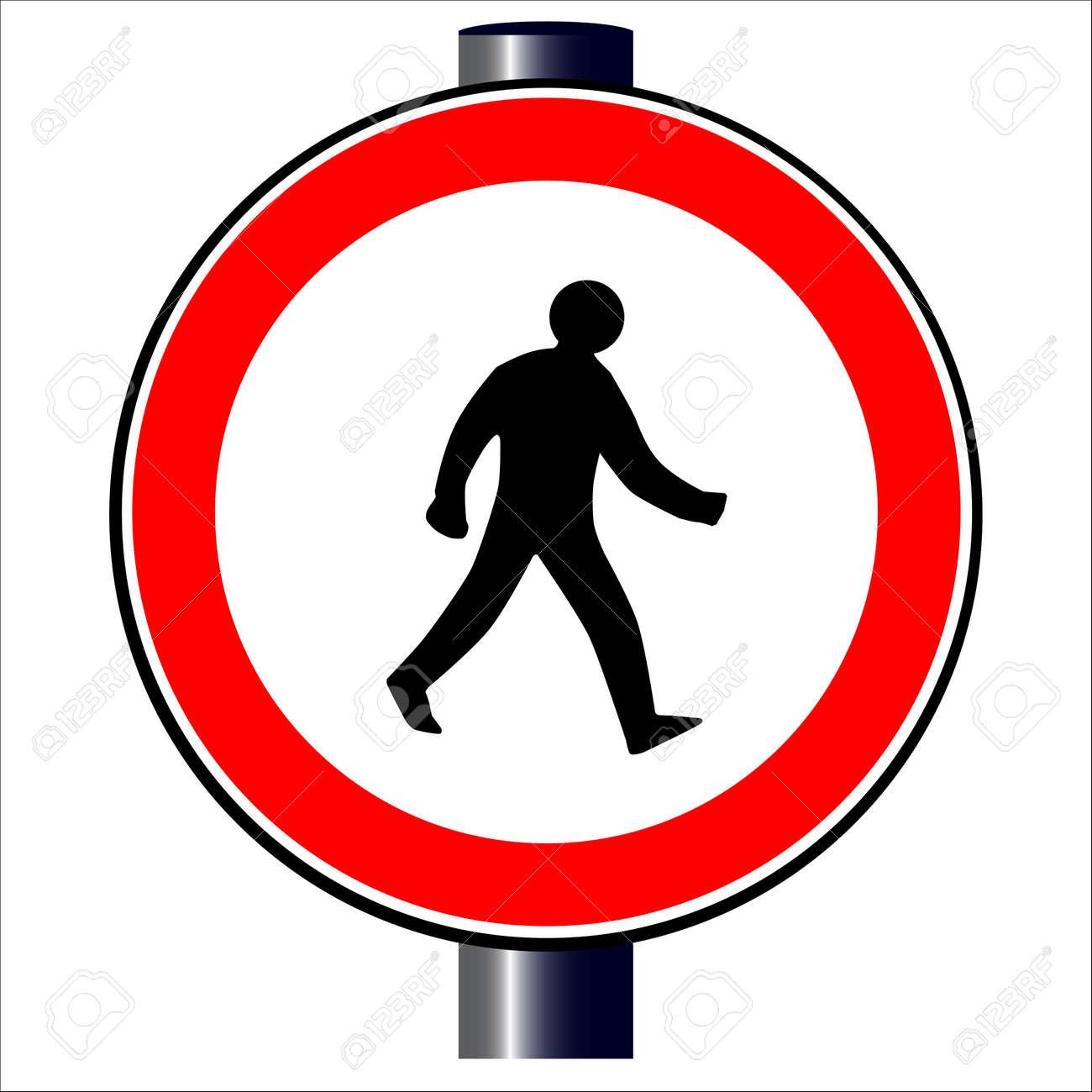 Walking man traffic sign Stock Vector - 20387980