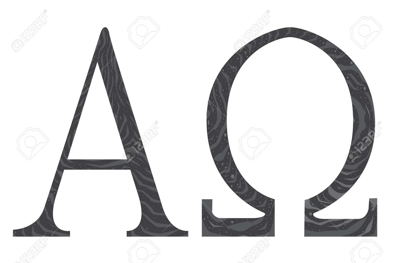 The Alpha Omega Symbols From The Christian Religion Royalty Free
