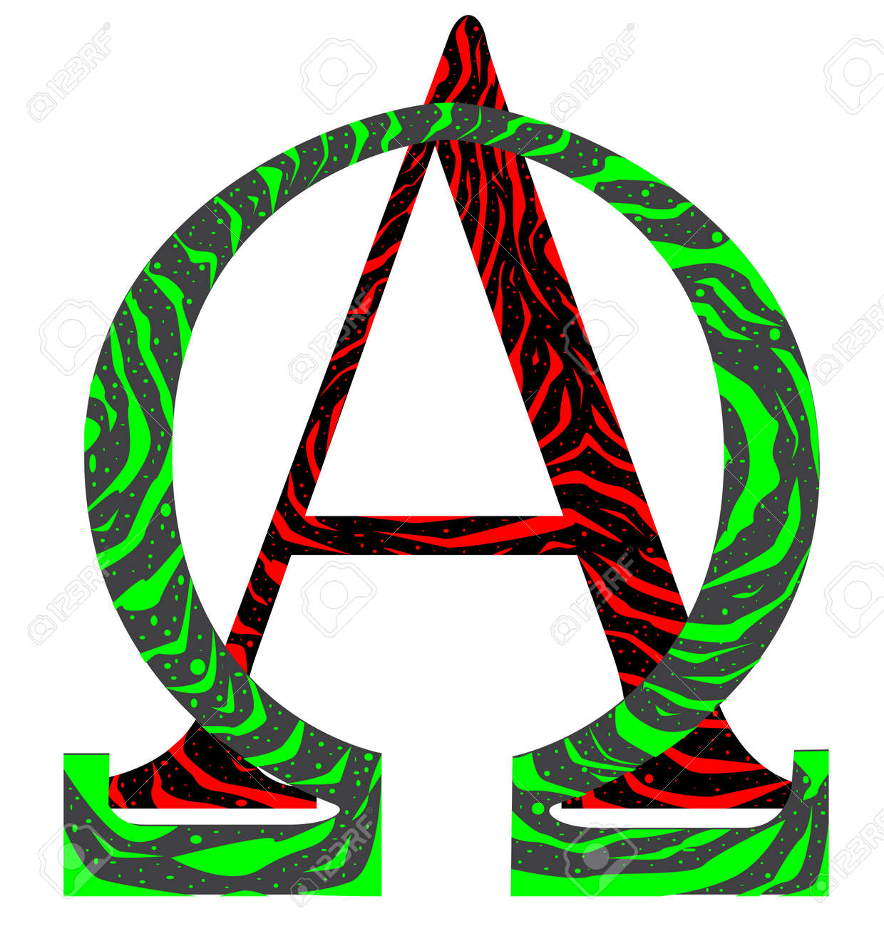 The Alpha Omega Letters From The Greek Alphabet Royalty Free