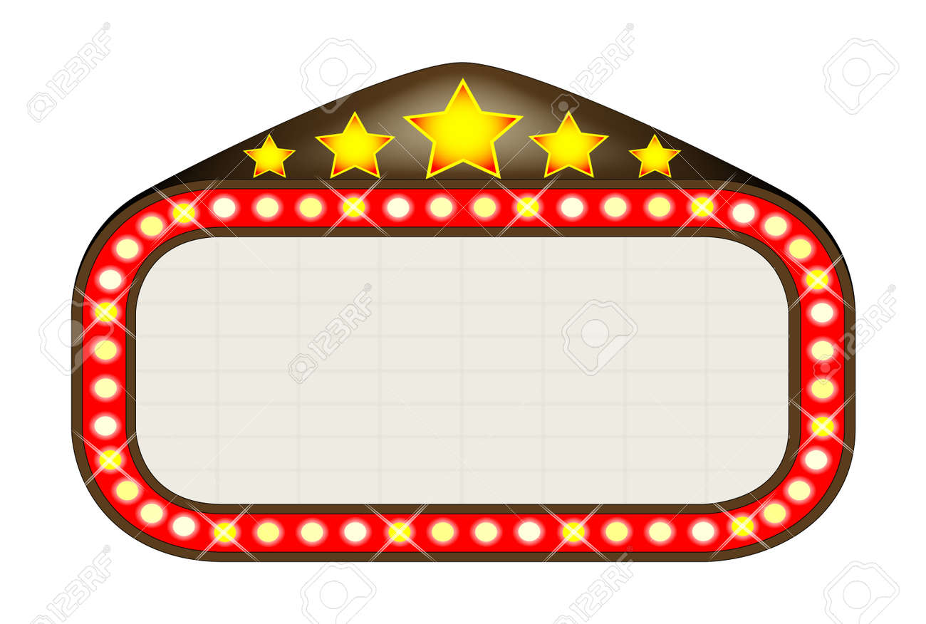 a blank movie theatre or theatre marquee royalty free cliparts rh 123rf com movie theatre marquee clipart movie marquee clip art for word documents