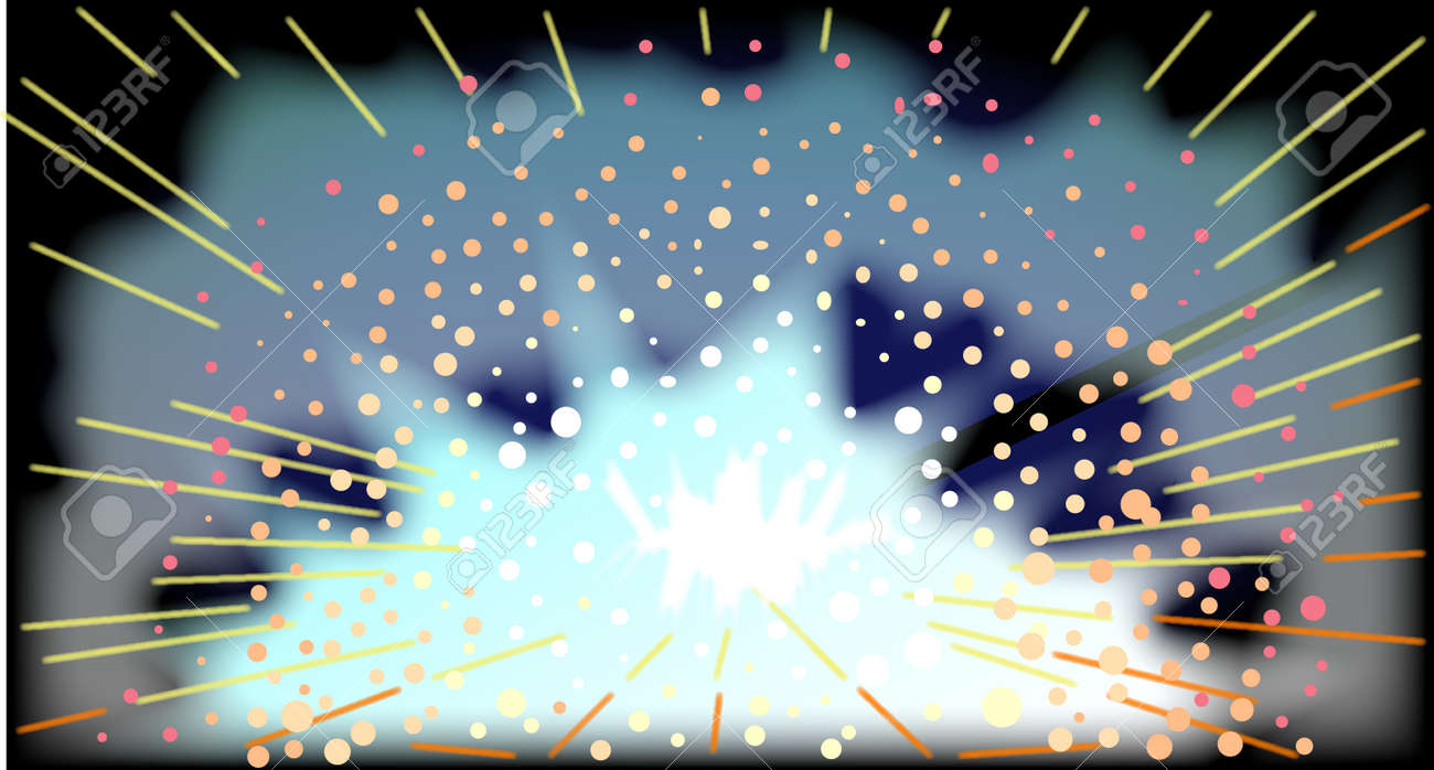 The flash and sparks from an arc welding rod Stock Vector - 24167652