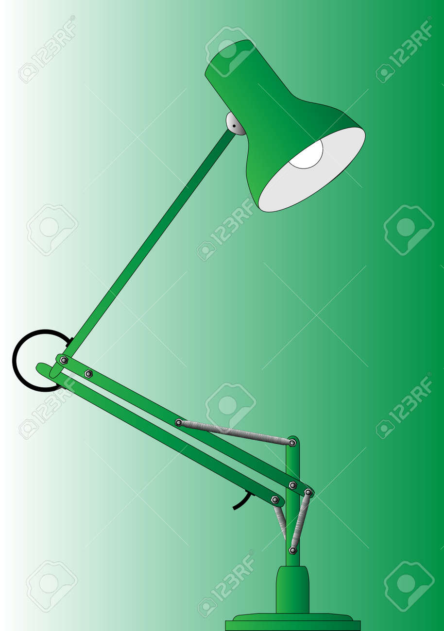Typical anglepoise lamp Stock Vector - 24640573