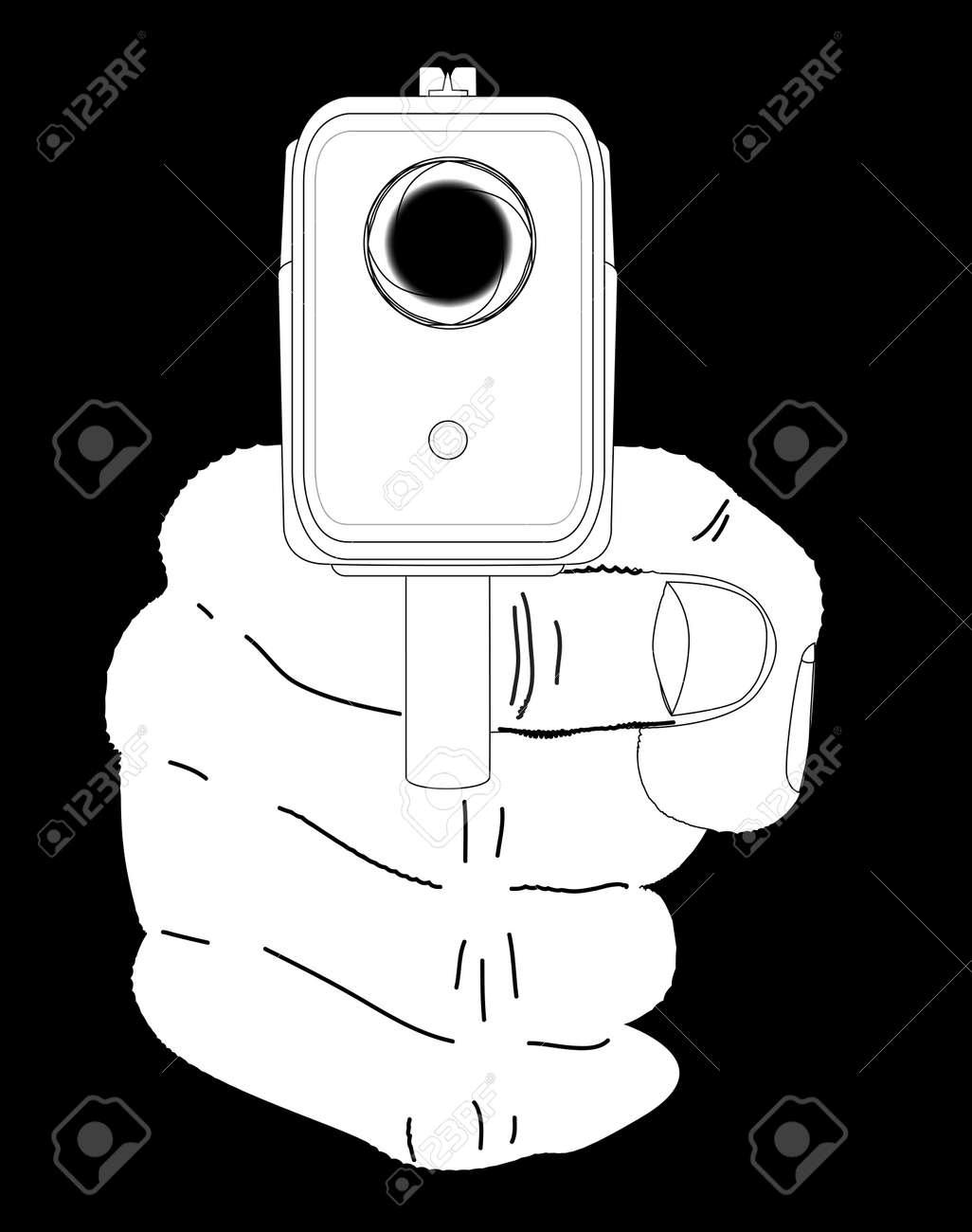 Looking down the barrel of a smoking hand gun