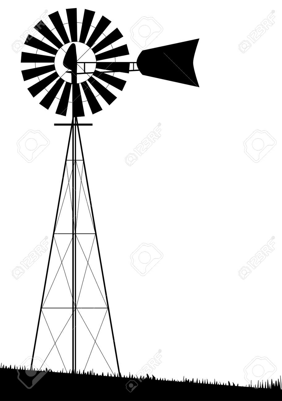 26589 windmill stock illustrations cliparts and royalty free a small water pump windmill isolated over white pooptronica Gallery