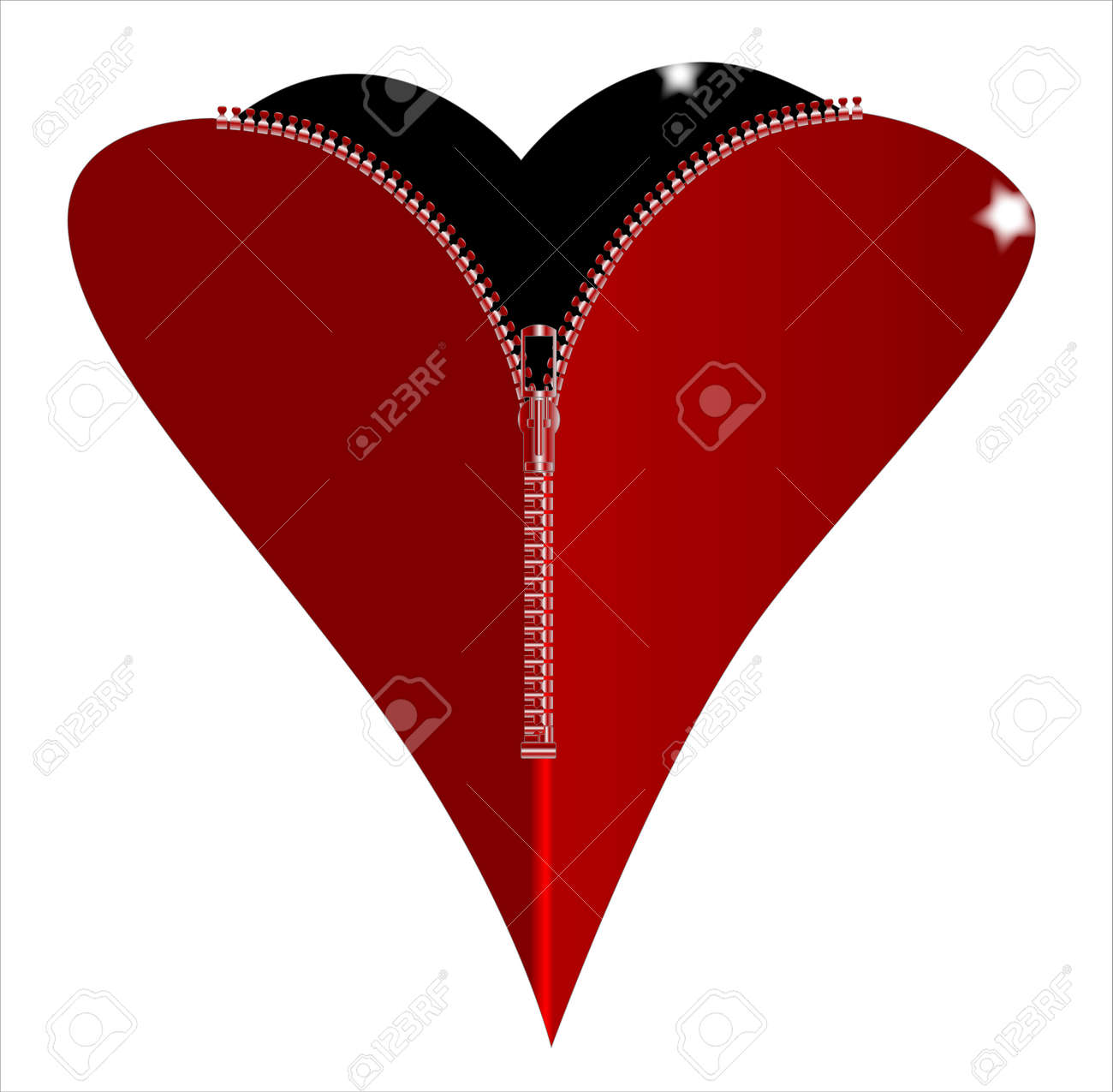 A red heart with a zipper showing a black heart within royalty free a red heart with a zipper showing a black heart within stock vector 27234431 biocorpaavc Images