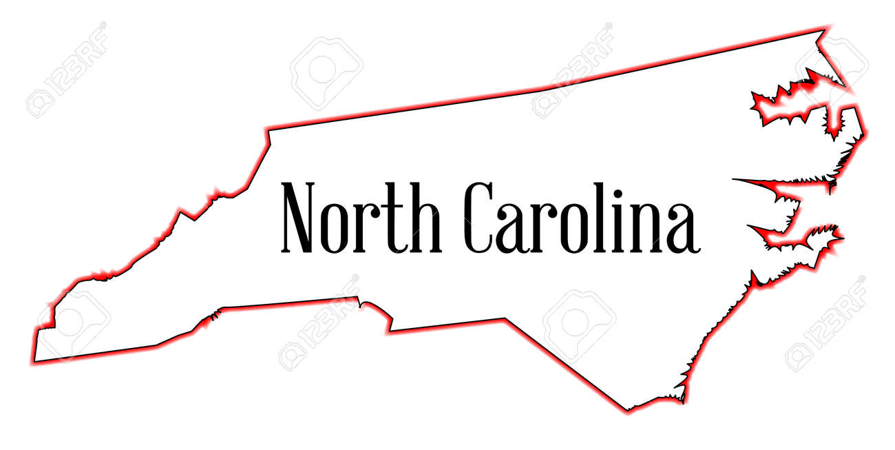 Outline Map Of The State Of North Carolina Royalty Free Cliparts - State outline map