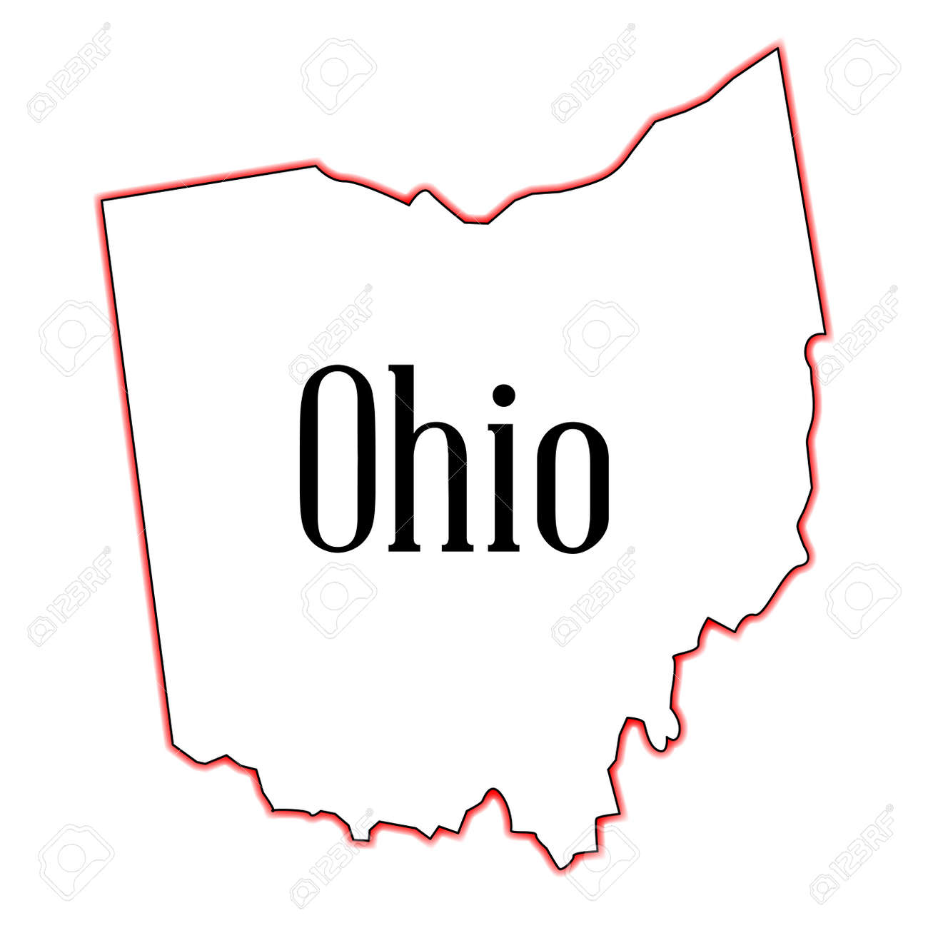 Outline Map Of The State Of Ohio Royalty Free Cliparts Vectors And