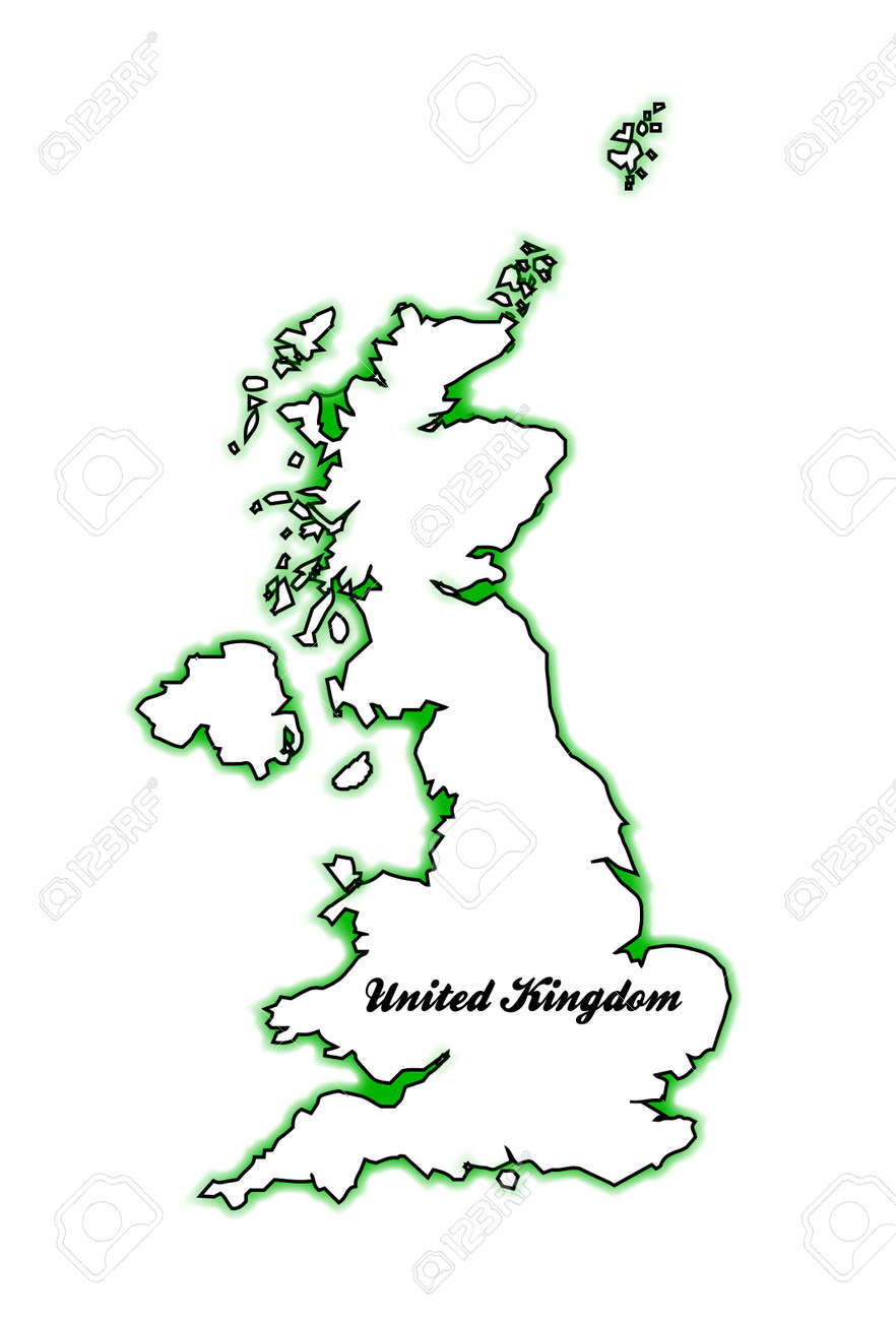 Map Of England Scotland And Ireland.Outline Map Of The United Kingdom Of England Scotland Northern