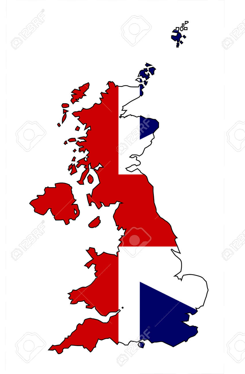 Outline Map Of The United Kingdom Of England Scotland Northern – Map Uk Outline