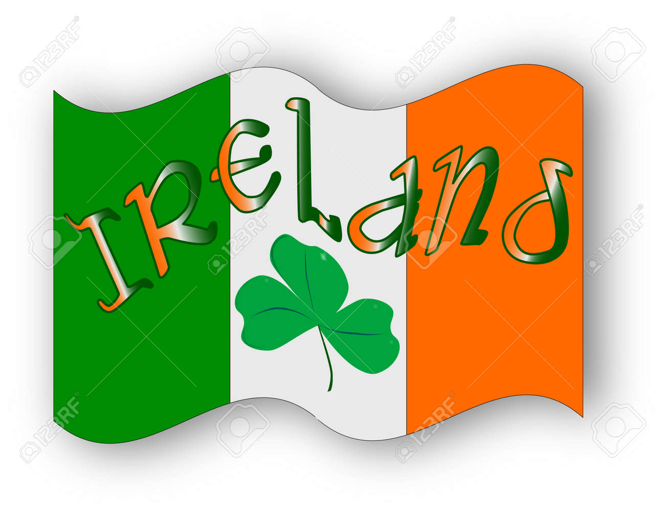 The republic of ireland flag with the text ireland and a lucky the republic of ireland flag with the text ireland and a lucky shamrock a symbol biocorpaavc Gallery