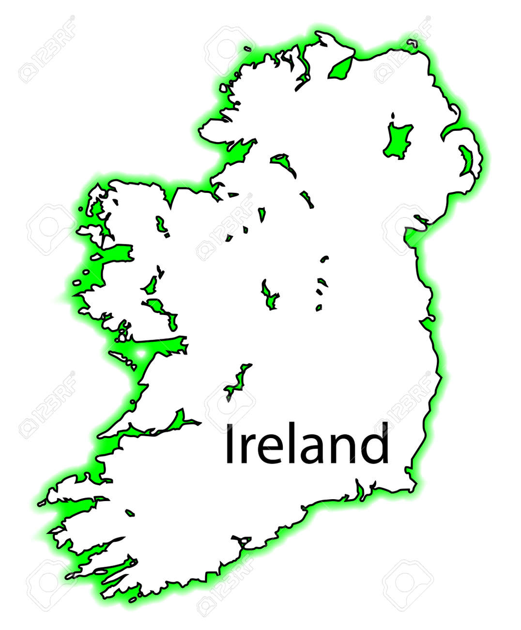 Outline Map Of Ireland.Outline Map Of Both Northern Ireland And Eire Southern Ireland