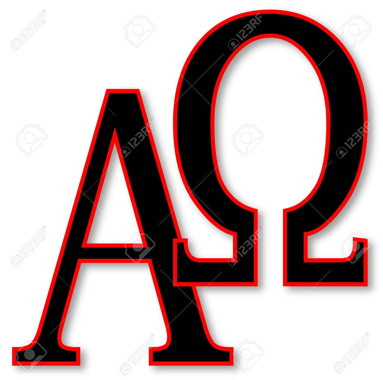 The alpha omega symbols over a white background royalty free the alpha omega symbols over a white background stock vector 33405785 buycottarizona