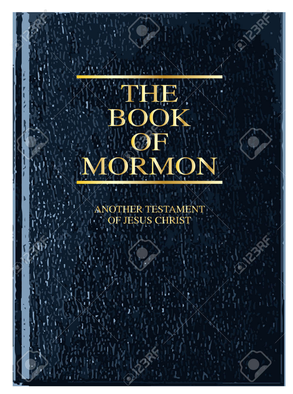Where Is The Illustration On The Front Cover Of A Book ~ The front cover of the book of mormon over a white background